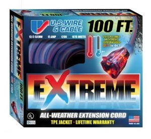 US Wire 12/3 All-Weather 100 Extension Cord - 99100