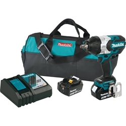 Makita 18-Volt LXT Lithium-Ion Brushless Cordless High Torque 1/2 in. Sq. Drive Impact Wrench Kit - XWT08M