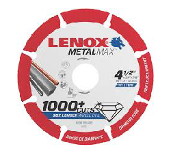 "Lenox Metal Max 4 1/2"" Cutting Disc - 1972921"
