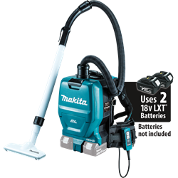 Makita 18 Volt X2 LXT Lithium-Ion (36V) Brushless Cordless 1/2 Gallon HEPA Filter Backpack Vacuum (Tool Only) - XCV05Z