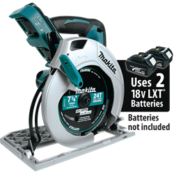 Makita 18V X2 LXT? Lithium-Ion (36V) Cordless 7-1/4 In. Circular Saw (Tool Only) - XSH01Z