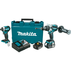 Makita 18 Volt LXT Lithium-Ion Brushless Cordless 2-Piece Combo Kit (Hammer Drill/ Impact Driver) 4.0 Ah - XT268M