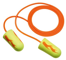 3M E-A-Rsoft Yellow Corded Ear Plugs - 3M311-1251