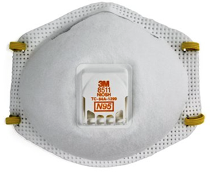 3M Particulate Respirator 8511, N95 - 10 Pack