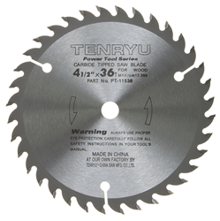 "Tenryu 4-1/2"" 36 Tooth Very Smooth Wood Blade - PT-11536"