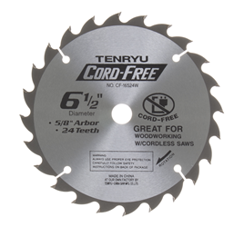 "Tenryu 6-1/2"" 24 Tooth Very Smooth Wood Blade - CF-16524W"
