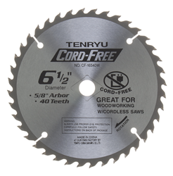 "Tenryu 6-1/2"" 40 Tooth Very Smooth Wood Blade - CF-16540W"