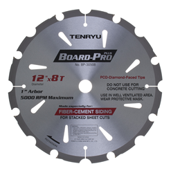 "Tenryu 12"" 8 Tooth Fiber Cement Blade - BP-30508"