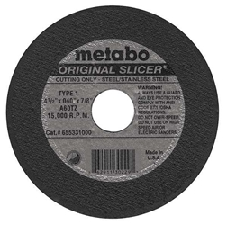 Metabo Slicer Wheel 4-1/2""