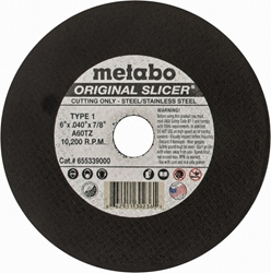 Metabo Slicer Wheel 6""