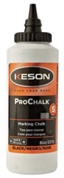 Keson 8 oz Black Marking Chalk - 8-BLACK