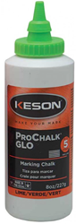 Keson 8 oz Glo-Lime Marking Chalk - 8-GL