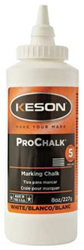 Keson 8 oz White Marking Chalk - 8-W