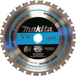 "Makita 5-3/8"" 30T Carbide Tipped Saw Blade (Metal/General Purpose) - A-95037"