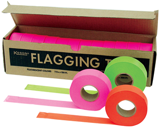 Keson Glo-Red Flagging Tape - FT-GR