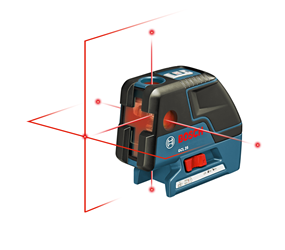Bosch GCL 25 Self-leveling Combination Cross-line & 5-Point Laser - GCL 25