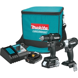 Makita 18V LXT Lithium-Ion Sub-Compact Brushless Cordless 2-PC Combo Kit - CX200RB